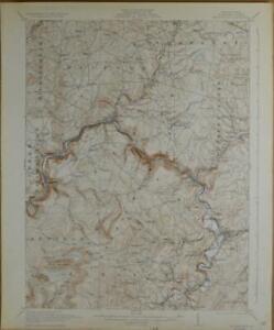 Meyersdale Pennsylvania Antique USGS Topographic Map Printed 1932 16x20 Art