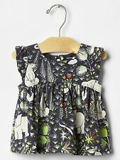 GAP Baby Girl 6-12 Months NWT Jungle / Safari / Animal Print Blouse Shirt Top