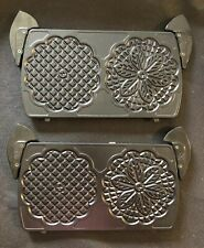 InterBake3 Villaware Replacement Pizzelle Interchangeable Plates New Model #5230