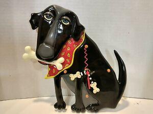 Allen Designs Parker the Dog Black Pendulum Wall Clock 13 in.