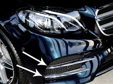 Mercedes W213 E Class Saloon Sedan Kombi Chrome Front Bumper Fins Set