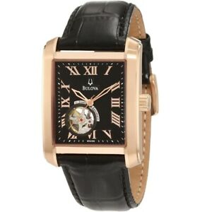 BULOVA BVA Series 160 Mechanical Rose Gold-tone Men's Watch 97A105