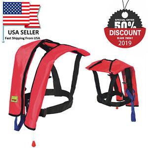 Black Friday Sale Adult Manual Inflatable Life Jacket Vest 150N PFD Fishing