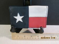 Texas flag credit or business card vinyl bifold holder