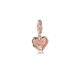 New Pandora Charm Love You Infinity Heart Dangle