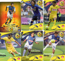 AMERICA  MEXICAN SOCCER CARDS (2009) LOT OF 6 CARDS