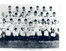 1946  BALTIMORE ORIOLES TEAM 8X10 PHOTO BASEBALL MARYLAND USA