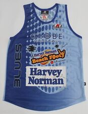 BRAND NEW 2006 NSW BLUES BEACH FOOTY SINGLET SIGNED MEDIUM RARE! KOMBAT