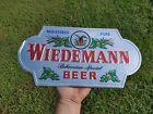 Vintage Wiedemann Beer Thick Foiled Cardboard Embossed Sign Cincinnati Ohio OH