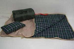 """Beige Outdoor Camping Sleeping Bag Pillow Set For 18"""" American Girl Doll (Debs*)"""