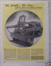 DEMPSTER RED SEAL ENGINES GLOBE AUTO LITE  OLD 1945 ADS