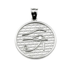 925 Sterling Silver The Eye of Horus Round Charm Pendant
