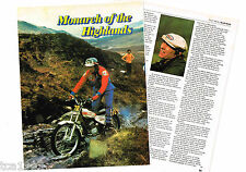 vintage MICK ANDREWS MOTORCYCLE TRIALS Article/Photos/Pictures
