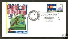 4280 * 2008 FLAGS OF OUR NATION SERIES * COLORADO STATE FLAG * DENVER POSTMARK >