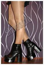 Buffalo Plateaustiefel Gr. 36-40 Stiefeletten 24401-T Lederstiefel schwarz