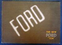 FORD TEN CAR SALES BROCHURE 1937.