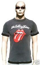 AMPLIFIED ROLLING STONES Vintage Rock Star T-Shirt g.S Stonewash Grau Rote Zunge