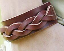 Genuine Leather Weave Bracelet Bracelet Bande Bracelet Pour Homme Marron Surfeur A57