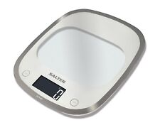 Salter Curve Glass Electronic Digital Kitchen 5kg Scales White 1050WHDR