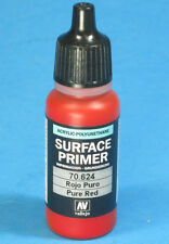 Vallejo 70.624  PURE RED SURFACE PRIMER  Acrylic Hobby Paint 17ml