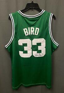 Larry Bird #33 Signed Boston Celtics Jersey Size L Adidas JSA WITNESSED COA HOF