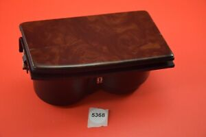 B#22 98-02 HONDA ACCORD CENTER CONSOLE FRONT CUP HOLDER WOOD GRAIN LID OEM