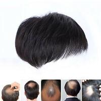 Peluca Natural Corta para Hombres Hair Topper Toupee Clip Top Corto