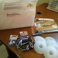 Kumihimo Starter Kit Lot make Kumihimo Braided Jewelry, lot of 6- Free Shipping
