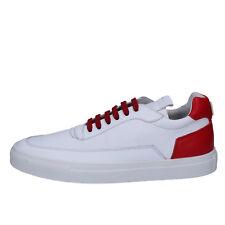 scarpe uomo MARIANO DI VAIO 44 sneakers bianco rosso pelle AB772-F