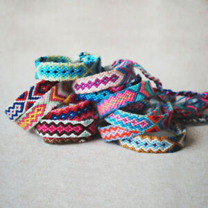 Boho Adjustable Handmade String Cord Woven Braided Bracelet Wristband Friendship