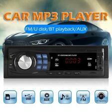 Single 1 DIN Car Bluetooth Stereo Mp3 Player USB/AUX/FM Radio Receiver Head Unit