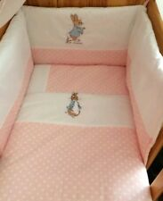 peter  rabbit cot bed quilt and pillow free postage