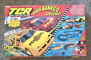 1992 Tyco TCR High Banked Speedway slot car race Cleaning Needed see info