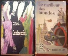 ALDUS HUXLEY Brave New World LE MEILLEUR DES MONDES Counterpoint FRANCE BOOK