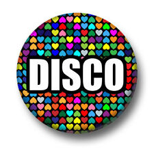 Disco 1 Inch / 25mm Pin Button Badge Party 80's Music Glitter Strobe Nightclub