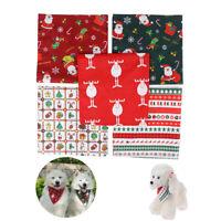 1X Christmas Pet Puppy Dog Cat Bandanas Dogs Scarf Dog Accessories Pet SuFFB