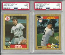 1987 Topps Tiffany Wade Boggs #150(Reg) & 608(A.S)  PSA 9 Mint (2) Two Card Lot.