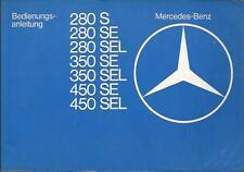 MERCEDES W 116  Betriebsanleitung 1977 S-Klasse 280  350 450 SE SEL Bordbuch BA