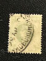 1867-82 Great Britain - USED # 122 Green -1sh Queen Victoria