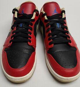 Nike Air Jordan 1 Retro Low Red Black Gold Men's Shoes Size 12 Rare 553558-613