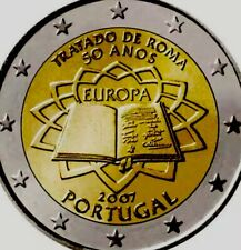 Portugal Coin 2€ Euro 2007 Commemorative Treaty Of Rome TOR TdR New UNC From Rol