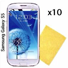 Samsung galaxy S5 Screen Protector & Cleaning Cloth Wholesale Bulk Job Lot x 10