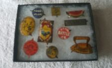 Early 1900s TOBACCO TAGS - ten different tin litho tobacco tags
