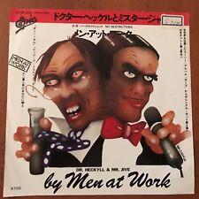 "MEN AT WORK - Dr Heckyll & Mr Jive /No Restriction JAPAN 7"" Vinyl Promo 075P-249"