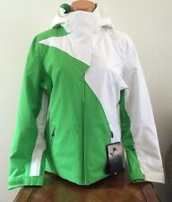 Spyder Womens Size 6 Power Jacket Thinsulate Warm Winter Ski Coat Green White