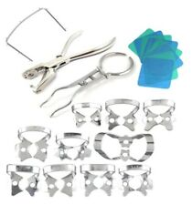 Dental Rubber Dam Starter Kit 14 Pcs with Frame Punch Clamps Angelus
