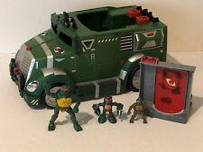 Teenage Mutant Ninja Turtle TMNT Battle Armored Attack Truck Figures Toy Door