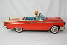 Made in Japan, Tin Friction 1959 Buick Convertible with Driver, Original