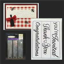 Darice embossing folders Sentiments 1219-304 Your're invited,Thank you,Congrats