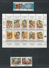 Venezuela: Lot of 6 Complete sets related thematic Indians, caciques...VE907